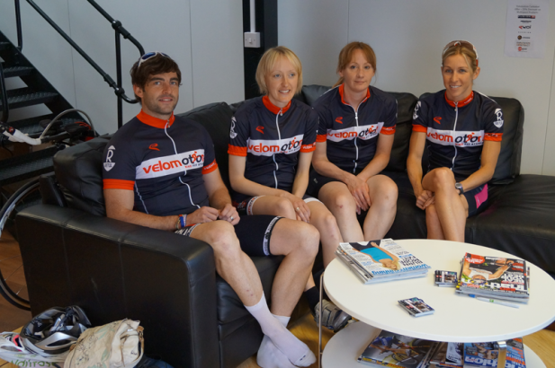 An image of Liz Blatchford and friends at Velomotion Bike Fit Studio Milton Keynes