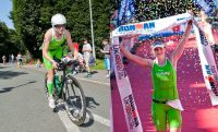 An image of Eimear Mullen UK 1/2 and Full Ironman champion