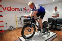 An image of Mike Smith of Velomotion performing a bike fit